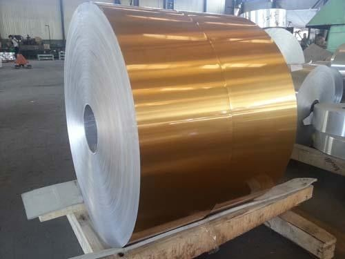 China 8011 Alloy Lacquer Coated Aluminium Foil For Flip Off Seal / Vial Seals factory