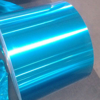 China Light Blue Color Hydrophilic Aluminium Foil 8011 For Air Conditioner factory
