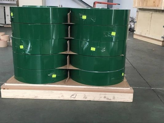 China Green Color Coated Aluminium Coil 3004 O For Produce Olive Oil Aluminium Caps factory