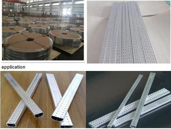 3003 / H19 Insulated Glass Spacer Bar Strip With Natural Aluminium Color
